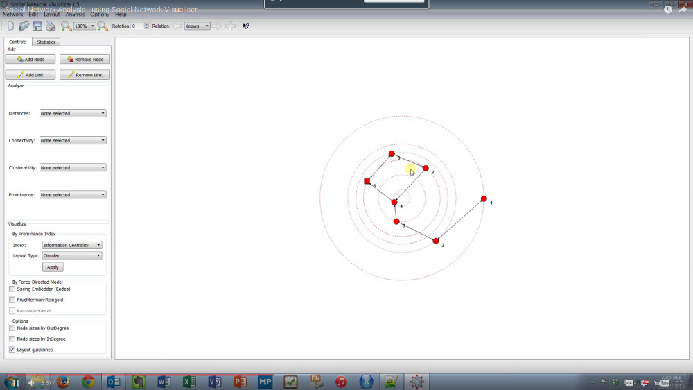 Social Network Analysis - using Social Network Visualizer